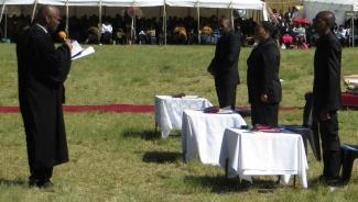 Rev. Masemene administering the ordination oaths