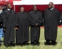 Rev. Monyane, Rev. Machachamise & Rev. Mokheseng with the LECSA Moderator