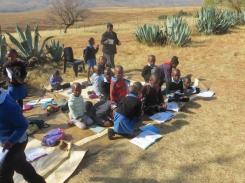 Class scene at Qiloane Primary School